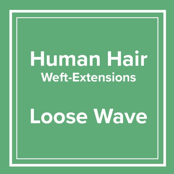 Accessories Loose Wave 100 Human Hair Weft Extensions Poshmark
